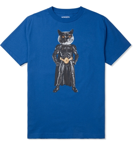 Odd Future Royal Blue Mellowhype Batcat T Shirt Hypebeast Store. Shop Online For Men's Fashion Streetwear Sneakers Accessories