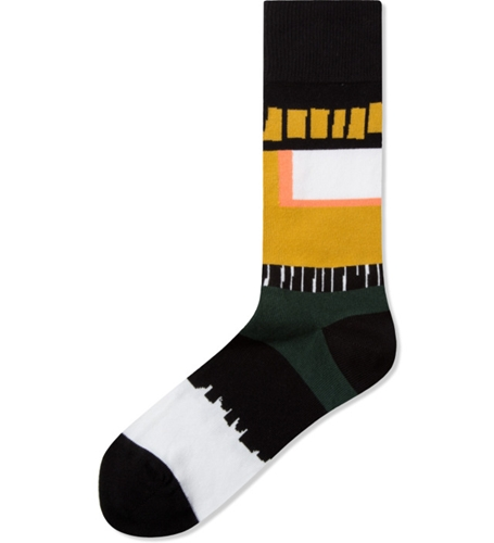 Henrik Vibskov Black Yellow Cayenne Socks Hypebeast Store. Shop Online For Men's Fashion Streetwear Sneakers Accessories