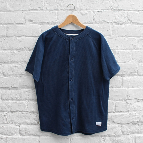 Norse Projects Lasse Mesh Baseball Shirt Blue Fusshop