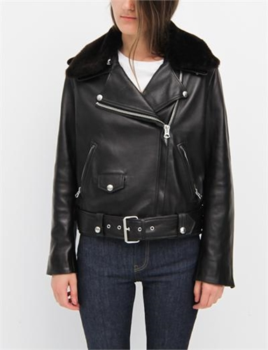 Acne Studios Mape Shearling Black Brown
