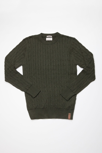 Knowledge Cotton Apparel Pull Cable Knit Centre Commercial