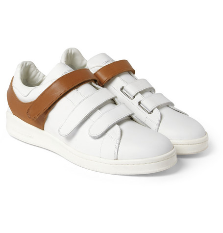 Alexander Mcqueen Harness Detailed Leather Sneakers Mr Porter