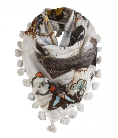 all saints forest square scarf nuji