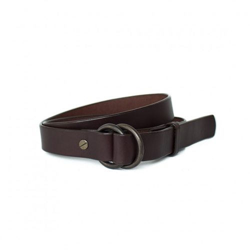 Ring Belt In Brown English Bridle Made In Usa