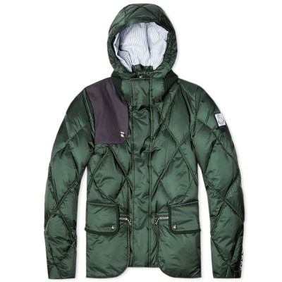 Moncler Gamme Bleu Quilted Hunting Blazer Green