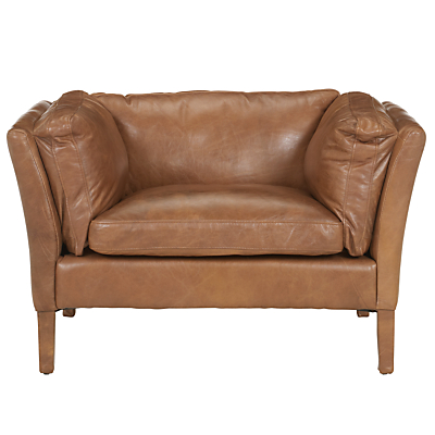 Buy John Lewis Groucho Leather Armchair Walnut online at JohnLewis com John Lewis