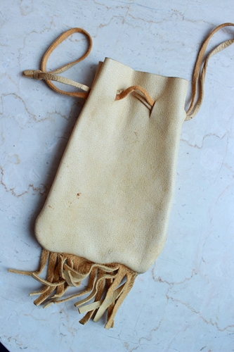 Small Deerskin Pouch Coin Travel Bag Dice Stone Pouch By Kaert