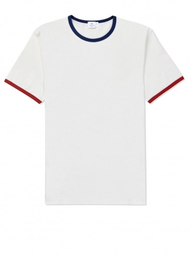 Best of British Crew Neck T Shirt White Red Blue Best of British Men