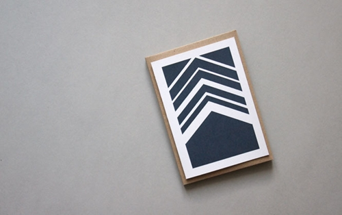 Herringbone Navy Card Karte Design Fabrik