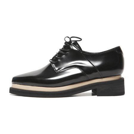 Contrast Color Trim Lined Boyish Oxford Shoes