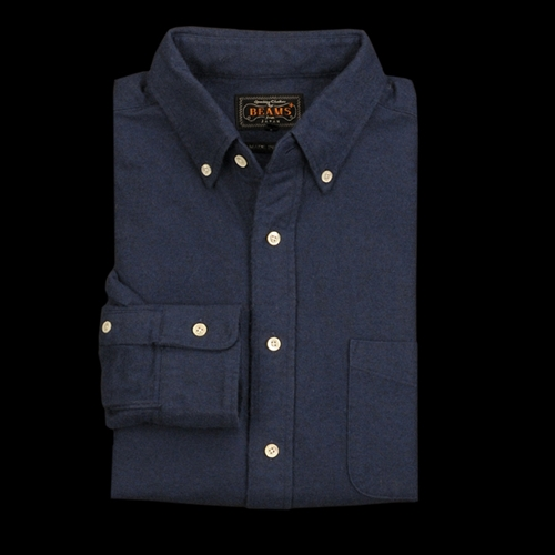 Unionmade Beams Flannel Button Down Shirt In Navy