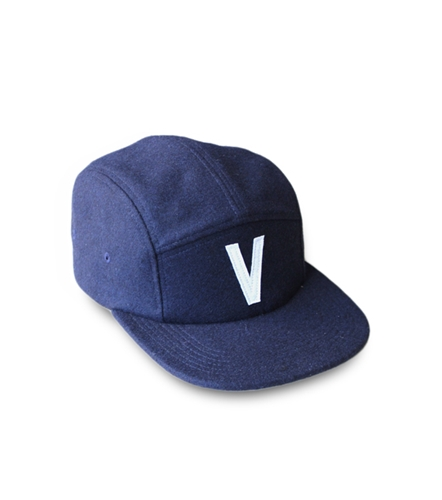 Image Of 5 Panel Wool Cap In Navy