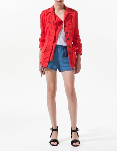 PARKA WITH POCKETS Blazers Woman ZARA Spain