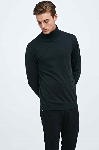 Selected Homme Tower Rollneck Jumper In Black Urban Outfitters