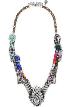 Shourouk Dynasty crystal necklace NET A PORTER COM
