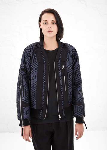 Totokaelo Dries Van Noten Blue Vyra Bomber Jacket