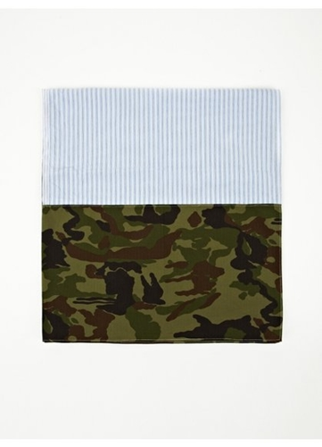 Men's Stripe Camo Scarf