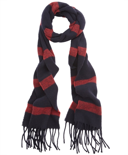 Red and Navy Stripe Wool Scarf Jil Sander Men s Shop the latest men s scarves from the Jil Sander Men s collection online at Liberty co uk