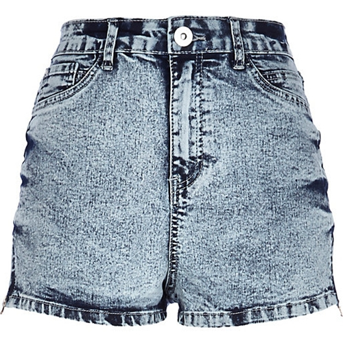 Light Acid Wash High Waisted Denim Shorts Denim Shorts Shorts Women