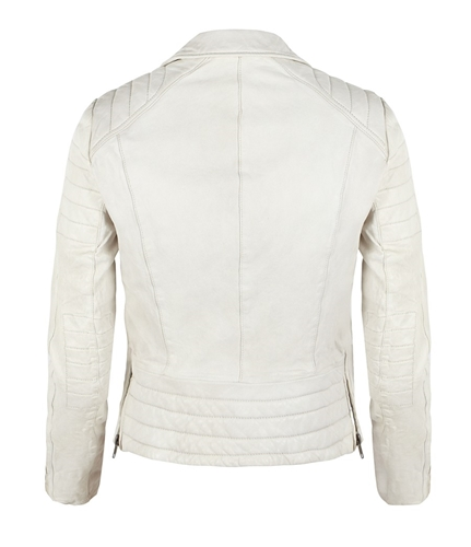 Polar Leather Biker Jacket