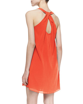 Alice Olivia Marion Silk Shift Dress