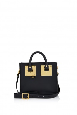 Sophie Hulme Black Saddle Leather Box Tote By Sophie Hulme