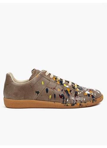22 Men's Pollock Effect Leather Sneakers