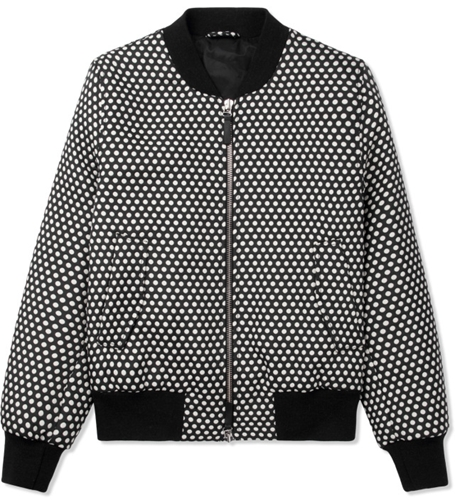 Ami Black White Polka Dot Bomber Jacket Hypebeast Store. Shop Online For Men's Fashion Streetwear Sneakers Accessories