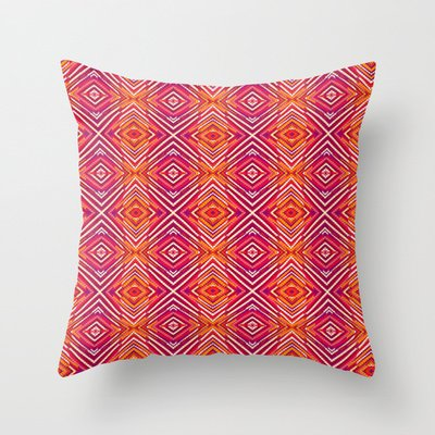Amazon.Com Society6 Vibrant Colours Throw Pillow By Nandita Singh Sports Outdoors