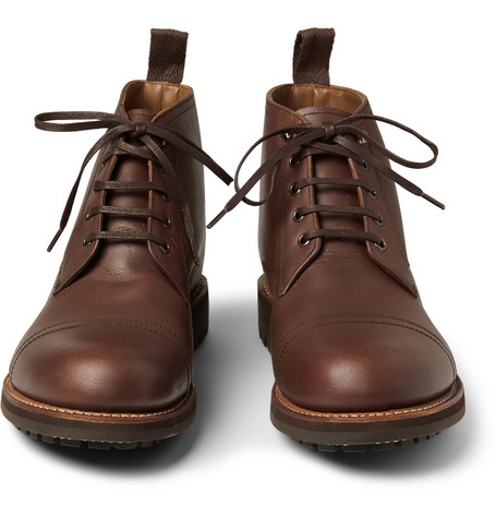 Grenson Ryan Four Eye Leather Boots Mr Porter