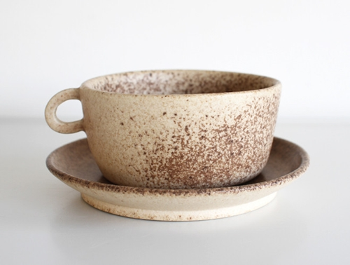 Spotted Brown Mug Cup By Mushimegane Books Oen Shop