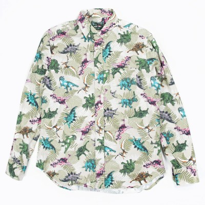 Gitman Vintage Penny Collar Shirt In Dinosaur Print Atoo.Co.Uk
