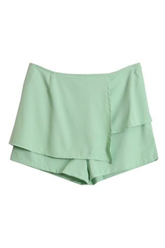 Anomalous Front Green Chiffon Shorts NCSPM0081 28 99