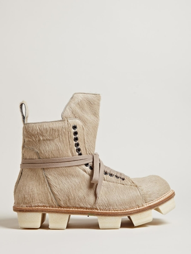 Rick Owens Men's Low Cow Hide Boots Ln Cc