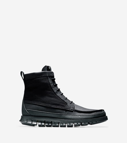 Zerogrand Tall Boots In Black Ash Grey Mens Shoes Cole Haan