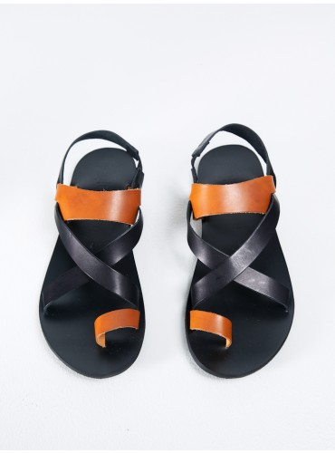Bicolor Sandal Black Natural