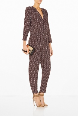 Ganni Monochrome Long Sleeve Jumpsuit By Ganni