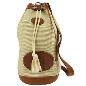 Authentic Hermes Ranch One Side Shoulder Backpack Crinoline Vintage Shw A11215 Ebay