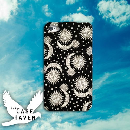 Sun And Moon Black And White Pattern Vintage Retro By Thecasehaven