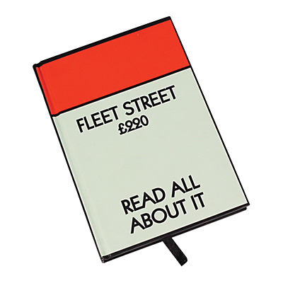 Buy MONOPOLY Fleet Street Notebook Read All About It online at JohnLewis com John Lewis