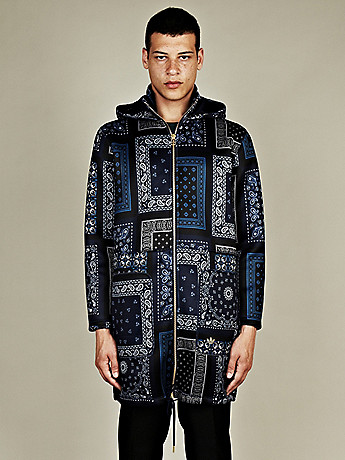 Adidas x Opening Ceremony Men s Paisley Print Parka in blue at oki ni