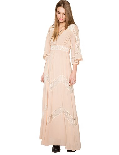 Beige Lace Maxi Dress Bohemian Maxi Dress Festival Maxi Dress 153