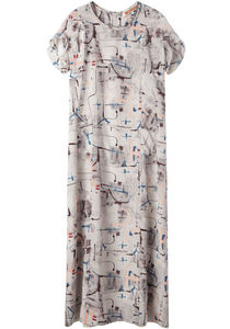 United Bamboo Long Printed Dress La Garconne