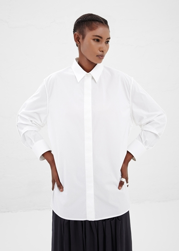 Totokaelo Maison Martin Margiela White Pushed Up Sleeves Top