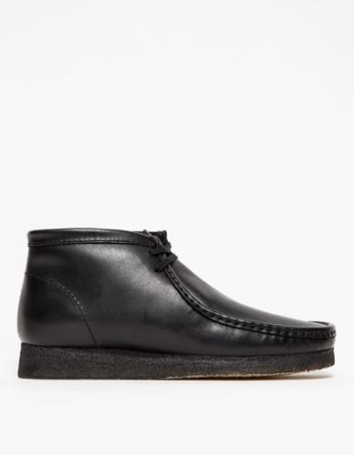 Wallabee Boot In Black Leather