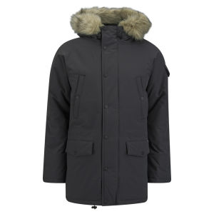 Carhartt Men's Removable Fur And Water Repellent Anchorage Parka Nylon Eclipse Clothing Free Uk Delivery Over 50