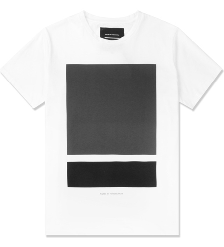 Tourne De Transmission White Black Grey Split Box Print T Shirt Hypebeast Store. Shop Online For Men's Fashion Streetwear Sneakers Accessories