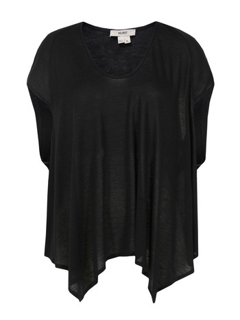 Helmut Lang Scoop Neck Black T Shirt at Coggles com online store