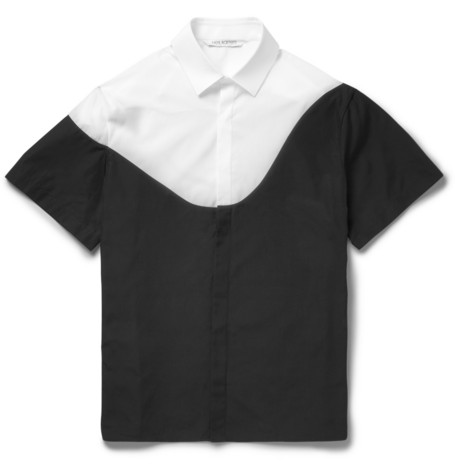 Neil Barrett Panelled Short Sleeved Cotton Shirt Mr Porter