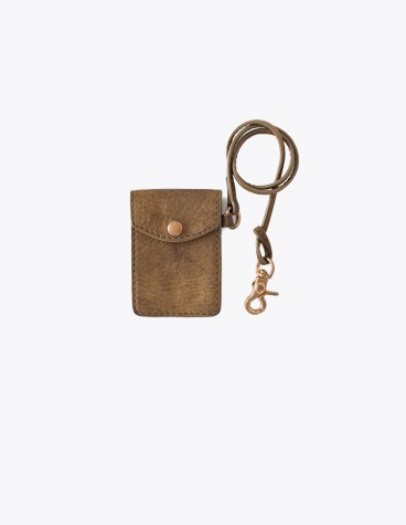 Visvim Leather Card Case Olive Tres Bien